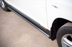 Toyota Highlander 2010 пороги труба d 63 (вариант 2) THT-0007372